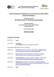 Private Enterprise Development in Low-Income Countries (PEDL) Research Workshop