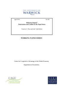 WORKING PAPER SERIES Centre for Competitive Advantage in the Global Economy