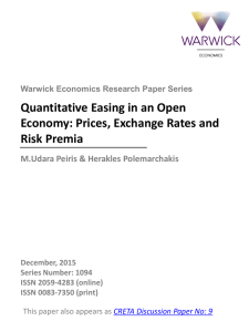 Quantitative Easing in an Open Economy: Prices, Exchange Rates and Risk Premia