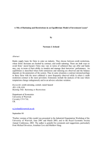 A Mix of Rationing and Restrictions in an Equilibrium Model... by Norman J. Ireland Abstract