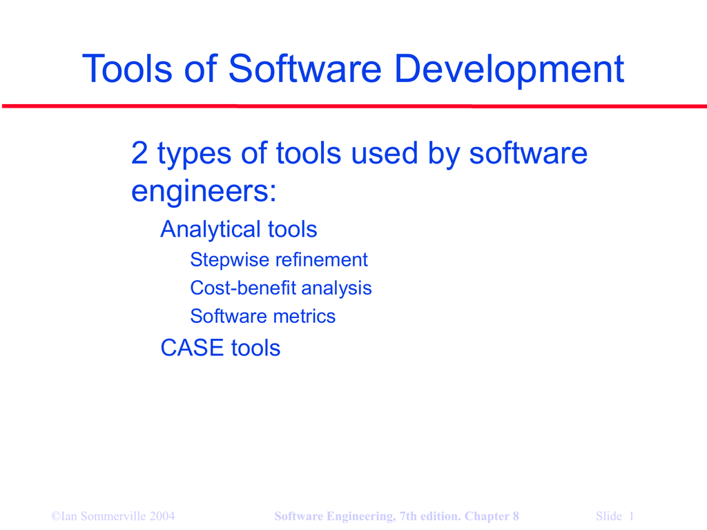 Tools Of Software Development 2 Types Of Tools Used By Software Engineers 1
