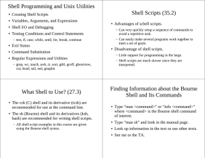 Shell Programming and Unix Utilities Shell Scripts (35.2)