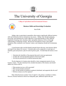 The University of Georgia Business Skills and Knowledge Evaluation