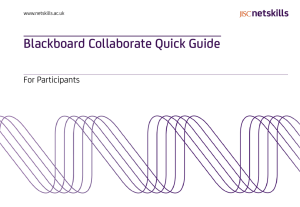 Blackboard Collaborate Quick Guide For Participants www.netskills.ac.uk