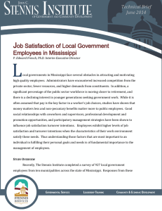 L J ob Satisfaction of Local Government Employees in Mississippi
