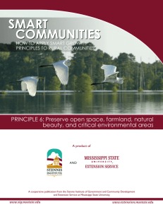 PRINCIPLE 6: Preserve open space, farmland, natural PRINCIPLES TO RURAL COMMUNITIES