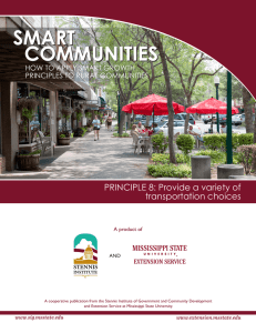 PRINCIPLE 8: Provide a variety of transportation choices PRINCIPLES TO RURAL COMMUNITIES