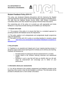 Student Feedback Policy 2014-15