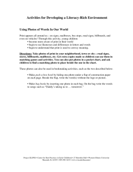 Activities for Developing a Literacy-Rich Environment