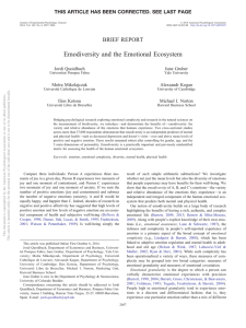 Emodiversity and the Emotional Ecosystem BRIEF REPORT Jordi Quoidbach June Gruber