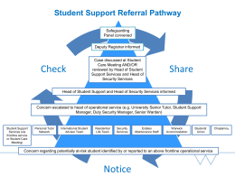Share Check Student Support Referral Pathway