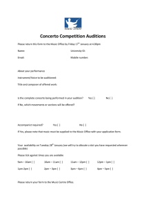 Concerto Competition Auditions