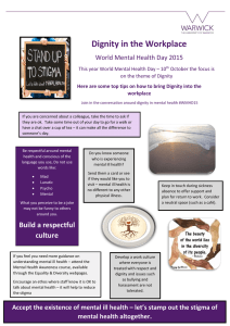 Dignity in the Workplace World Mental Health Day 2015