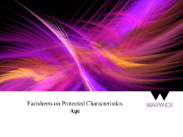 Factsheets on Protected Characteristics Age