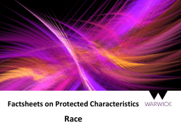 Race Factsheets on Protected Characteristics