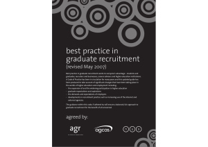 best practice in graduate recruitment (revised May 2007)