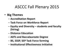 ASCCC Fall Plenary 2015 Big Themes