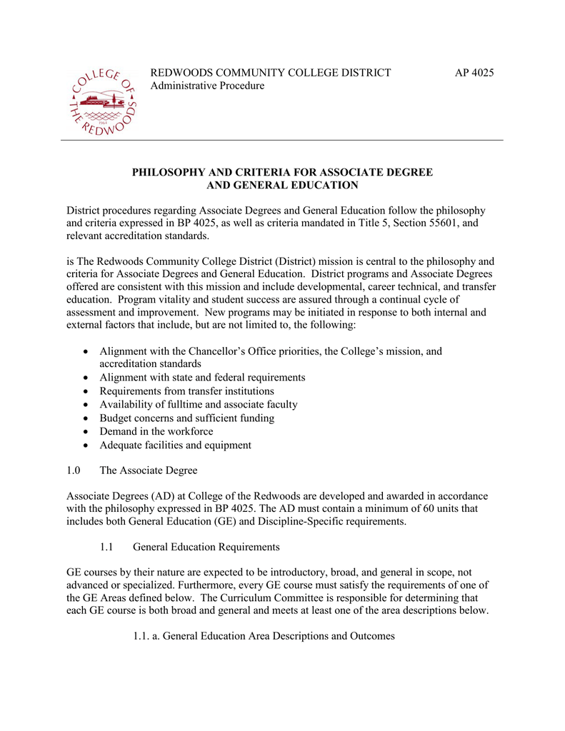 redwoods community college district  administrative procedure