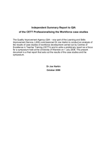 Independent Summary Report to QIA