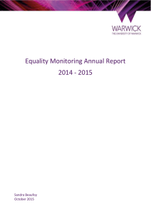 Equality Monitoring Annual Report 2014 - 2015  Sandra Beaufoy