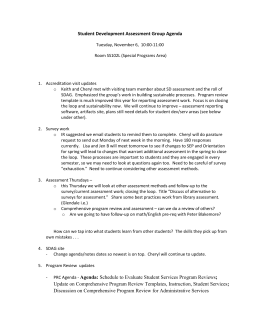 Student Development Assessment Group Agenda