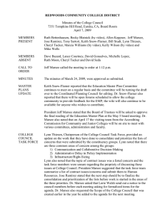 REDWOODS COMMUNITY COLLEGE DISTRICT Minutes of the College Council