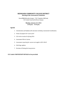 REDWOODS COMMUNITY COLLEGE DISTRICT  Meeting of the Assessment Committee