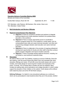 Minutes and Actions of the Committee September 25, 2014