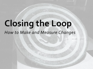Closing the Loop How to Make and Measure Changes