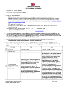 CURRICULUM PROPOSAL College of the Redwoods 1.  Course ID and Number: