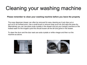 Cleaning your washing machine