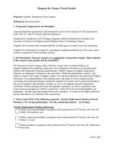 Request for Tenure Track Faculty