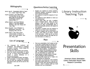 Library Instruction Bibliography Questions/Active  Learning
