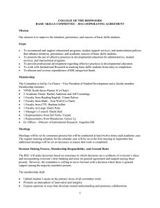 COLLEGE OF THE REDWOODS BASIC SKILLS COMMITTEE – 2012-13OPERATING AGREEMENT  Mission