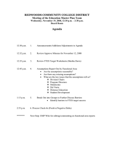 Agenda  REDWOODS COMMUNITY COLLEGE DISTRICT Meeting of the Education Master Plan Team