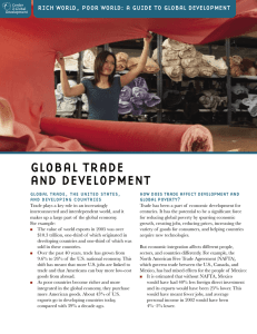 GLOBAL TRADE AND DEVELOPMENT