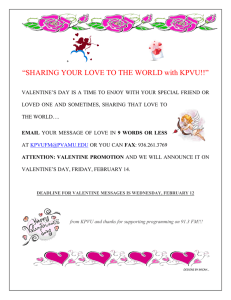 """SHARING YOUR LOVE TO THE WORLD with KPVU!!"""