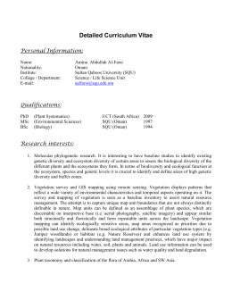 Detailed Curriculum Vitae  Personal Information: