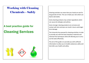 Working with Cleaning Chemicals – Safely