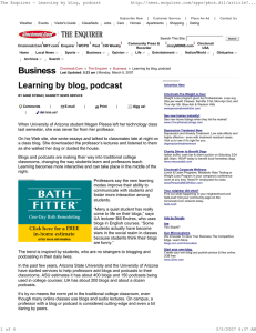 Business The Enquirer - Learning by blog, podcast