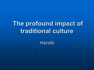 The profound impact of traditional culture Harold