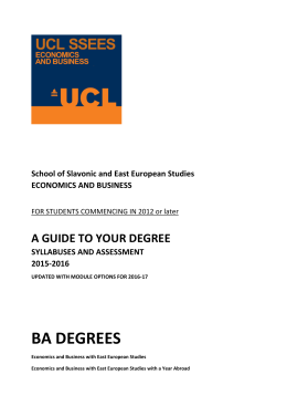 BA DEGREES A GUIDE TO YOUR DEGREE