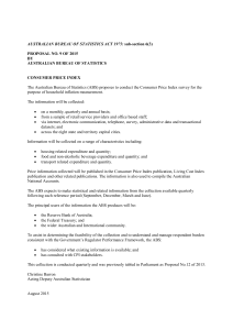 AUSTRALIAN BUREAU OF STATISTICS ACT 1975: PROPOSAL NO. 9 OF 2015 BY