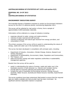 AUSTRALIAN BUREAU OF STATISTICS ACT 1975:  PROPOSAL NO. 24