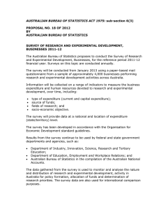 AUSTRALIAN BUREAU OF STATISTICS ACT 1975:  PROPOSAL NO. 18 OF 2012 BY