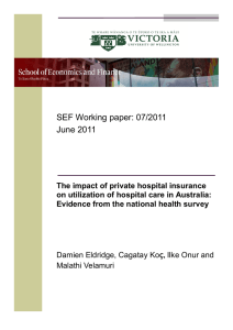 SEF Working paper: 07/2011 June 2011
