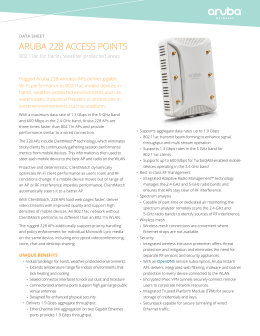 ARUBA 228 ACCESS POINTS 802.11ac for harsh, weather-protected areas