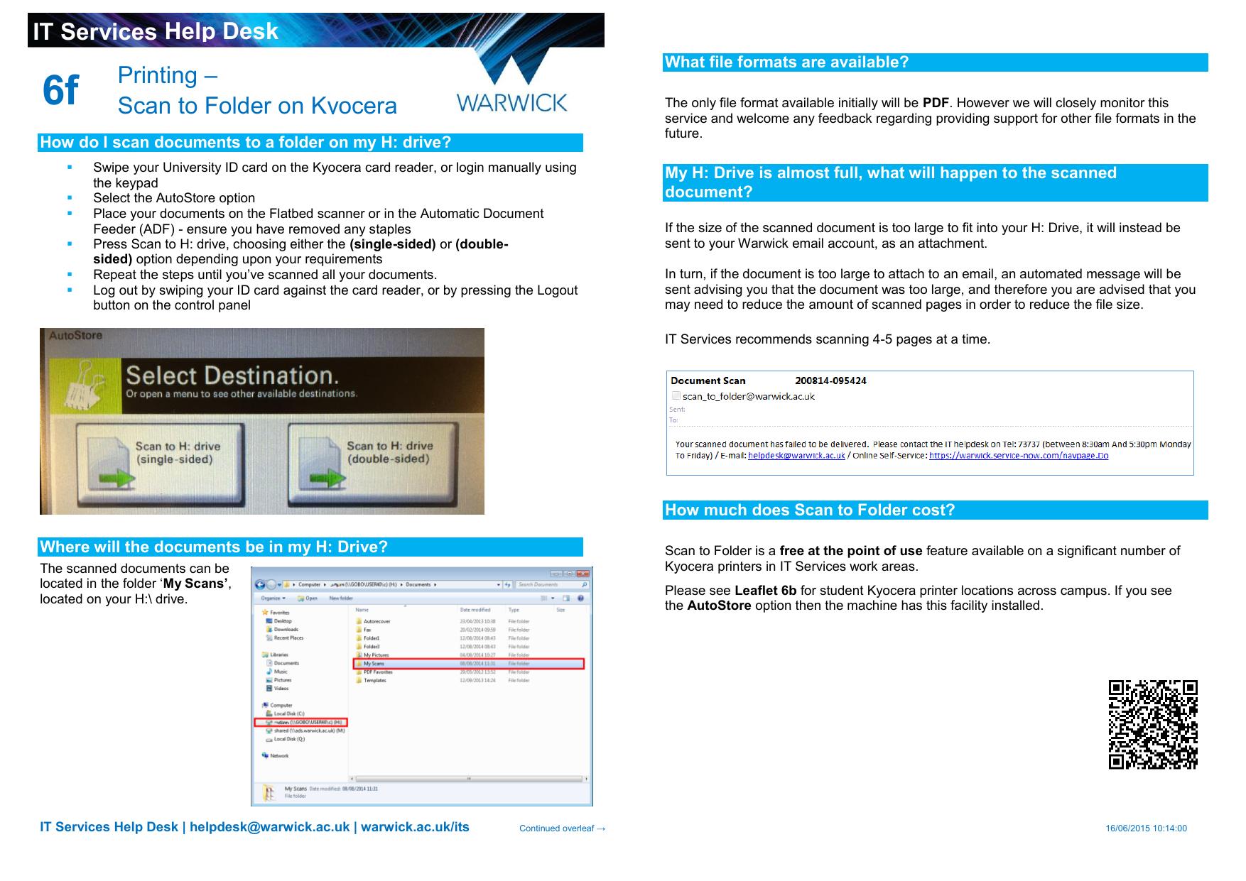 6f IT Services Help Desk –