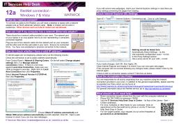 It Services Help Desk Resnet Connection