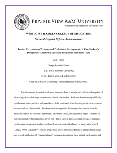 WHITLOWE R. GREEN COLLEGE OF EDUCATION Doctoral Proposal Defense Announcement
